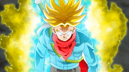 Super Saiyan Rage Trunks Dbs Dragonball Anime