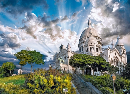 Montmartre, Paris - building, france, sky, clouds