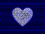 Blue Beaded Heart