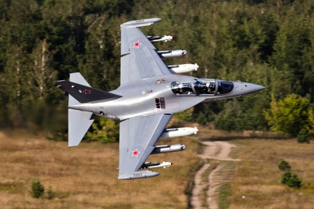 Russian YAK 130 Fighter Jet - fighter, military, aircraft, russian