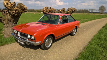 1974 Fiat 124 Coupe 1600 - Old-Timer, Coupe, Fiat, Red, Car, 1600, 124, 1974