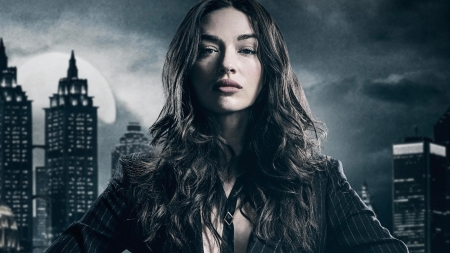 Gotham - poster, gotham, Crystal Reed, sofia falcone, woman, fantasy, girl, actress, tv series