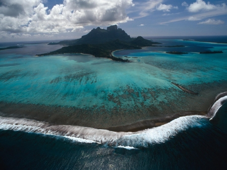 Reef-Ringed Bora Bora - Sea, Islands, Volcanoes, Coral Reefs, Nature