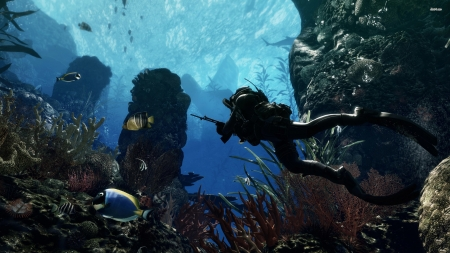 call of duty-ghosts - scuba, duty, ghost, call, diver
