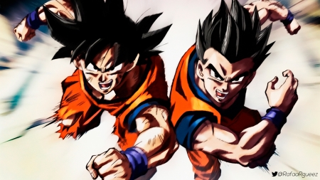 Goku And Gohan! Mortal D�o! - DRAGON BALL SUPER  GOKU GOHAN VEGETA DBZ DBS DB DBGT, DRAGON BALL GT, VEGETA, DRAGON BALL, LIMIT BREAKER, GOKU, DRAGON BALL Z, GOHAN