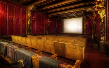 Vintage Movie Theatre Other Architecture Background