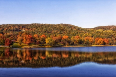 Squantz Pond - Autumn, Pond, Lakes, Nature