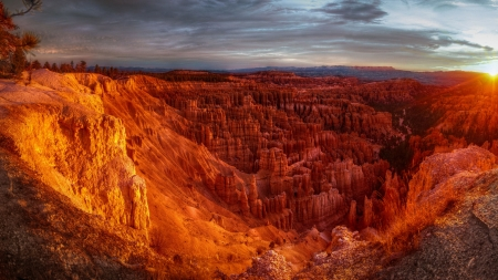 Sunrise at Bryce Canyon - National Park, Utah, scenery, landscape, photography, wide screen, beautiful, Bryce Canyon, photo, USA, nature