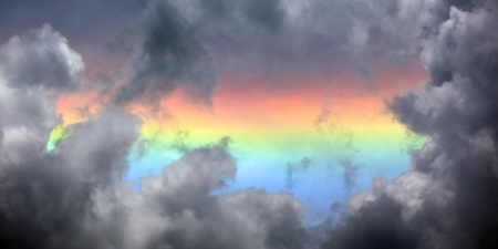 Fire Rainbow - Rainbow, Sky, Fire, Nature