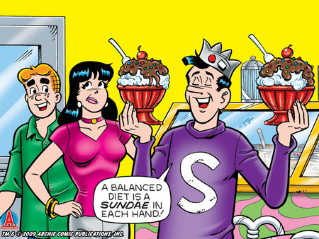 Balanced Diet - comic, veronica, archie, jughead, the archies