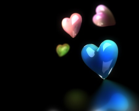 3d Heart 3d And Cg Abstract Background Wallpapers On