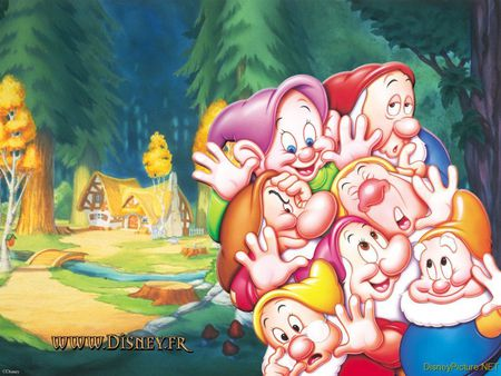 Snow Whiteand The Seven Dwarfs Wallpaper Funny