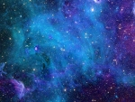 Blue Purple Space