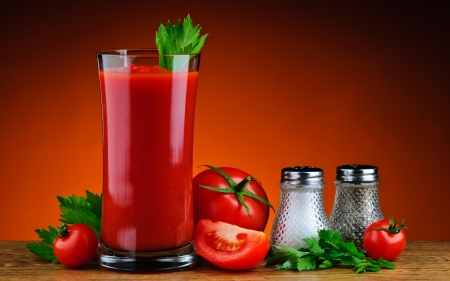Tomato Juice - still life, tomato, juice, pepper, salt