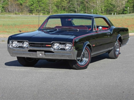 1967 Oldsmobile 4-4-2 - Black, Olds, GM, 1967