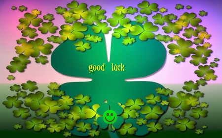 just good luck - fortuna, nature, luck, clover