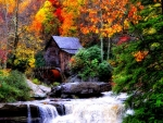 Autumn Forest Watermill