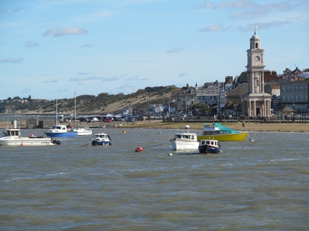 Boats & Clocktower - Boats, Seafronts, Seasides, Rivers, Herne Bay, Coastlines, Waterfronts