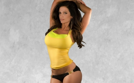 Denise Milani - pretty, sexy, Model, Female, gorgeous, long hair, brunette, face