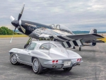 1963 Corvette Sting Ray & P51 Mustang