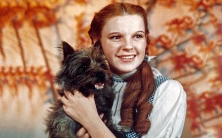 Dorothy And Toto In Wizard Of Oz - Dorothy, Wizard, Toto, Entertainment, Oz, Movies, Judy Garland