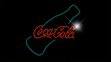 Coca Cola - soft drink, soda, pop, sign, Coca Cola, Coke, drink, Firefox Persona theme, light