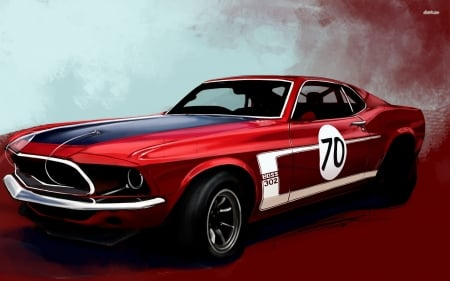 ford mustang boss 302 - mustang, coupe, boss, ford