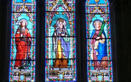 Saints - stained glass, saints, christianity, church