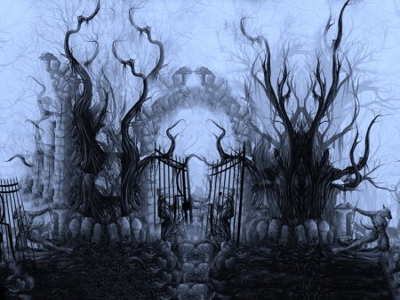 Hell's Gate - Enter, Eerie, Dreary, Dark, Mist