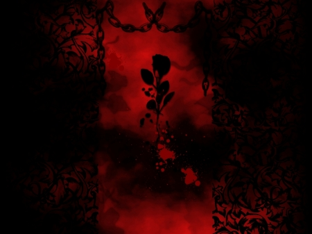 Dark Rose of Love - Red, Rose, Darkness, Death, Past