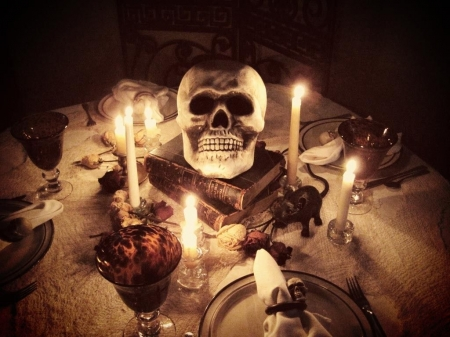 Join the Party....Take a Seat - Potion, Party, Candles, Skull, Settings