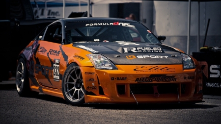 Nissan 350Z - cars, nissan 350z, nissan, vehicles, orange cars
