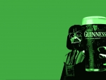 Darth Vader with a glass of Guinness beer