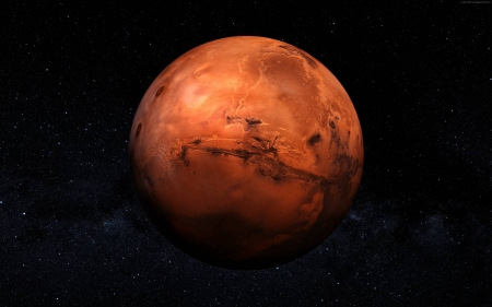 Mars in space - fun, cool, Mars, planet, space