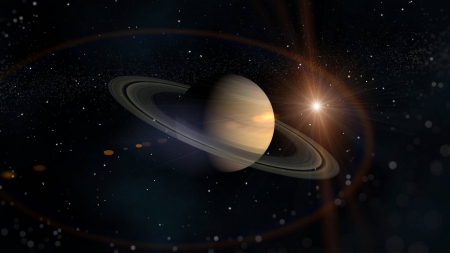 Saturn - cool, sun, planet, space, Saturn, fun