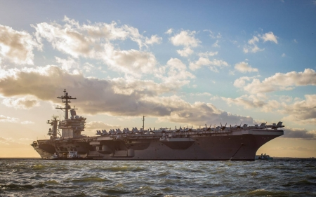 USS George H.W. Bush - cool, boat, military, carrier, fun