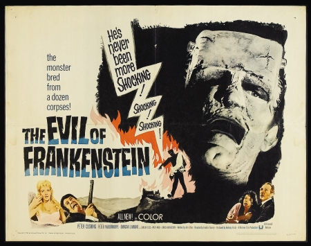 evil of frankenstein - frankenstein, face, monster, evil