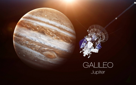 Jupiter Galileo - fun, Jupiter, cool, satellites, planet, Galileo, space