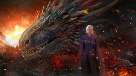 Mother Of Dragons Fantasy Amp Abstract Background