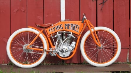 1912 Flying Merkel Board Tracker - Classic, Spokes, White Tires, Orange