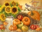 Autumn Leaves & Pumpkins