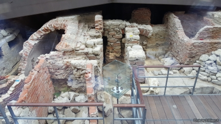 Archaeological site  in Brussels, Belgium - Stone, Ruins, Archaeological, Brussels, Bricks, Europe, Belgium
