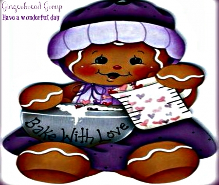 Gingerbread In Purple