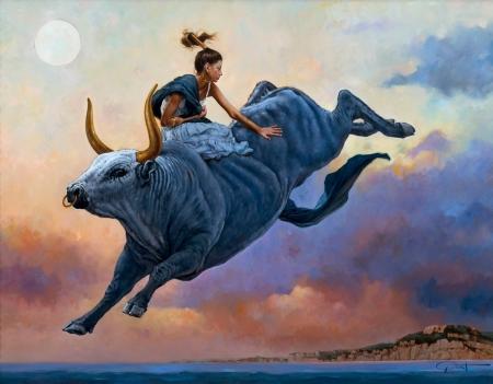Bull rider - Fantasy & Abstract