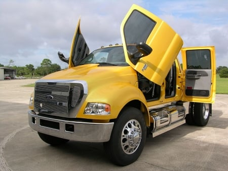 ford f-650 crewcab pick up - truck, crewcab, pick up, ford
