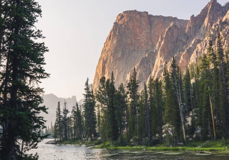 Sawtooth Mountains - mountain, forest, cool, nature, fun, lake