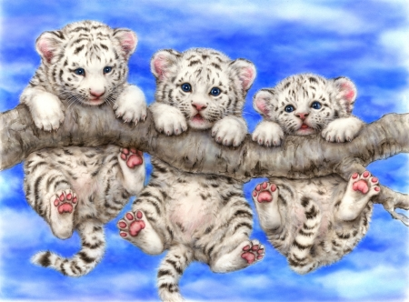 Cute white tiger cubs fantasy abstract background wallpapers on cute white tiger cubs thecheapjerseys Image collections