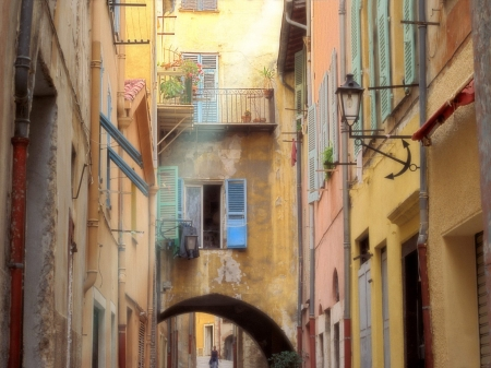 Cozy street in Venice - close, pretty, urban, houses, narrow, cozy, architecture, street