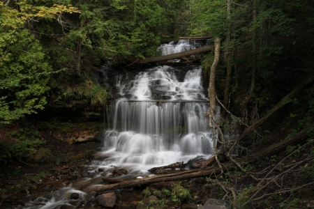 Wagner Falls - fun, cool, forest, waterfall, river, nature