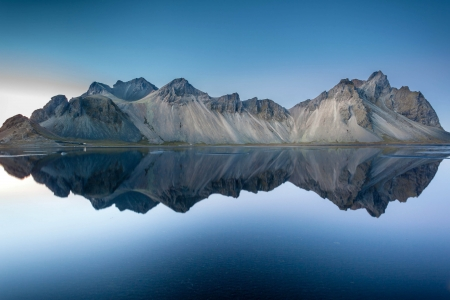 Vestrahorn Mountain, Iceland - iceland, nature, reflection, mountain